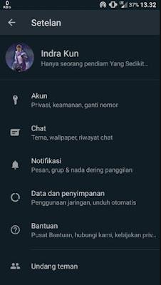 cara aktifkan whatsapp dark mode android