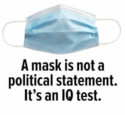 A mask is not a political statement, it's an IQ test