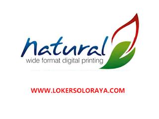 Loker Solo Agustus 2021 di Natural Digital Printing