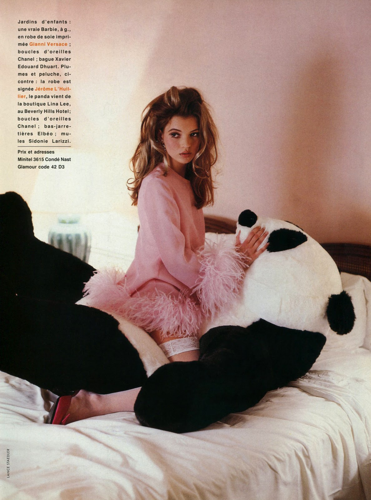 Kate Moss Glamour France April 1992