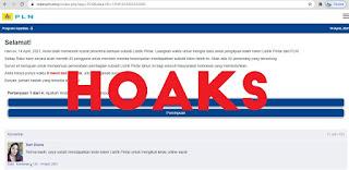 AWAS! WASPADA PENIPUAN SUBSIDI LIATRIK VIA WEBSITE