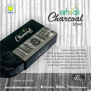 sabun ershali charcoal produk nasa