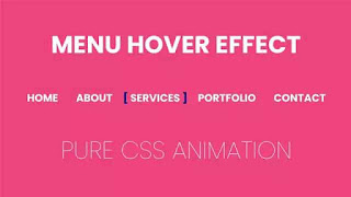 Menu Hover with CSS Animation