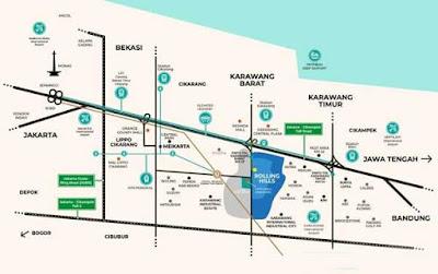 peta lokasi perumahan rolling hill karawang
