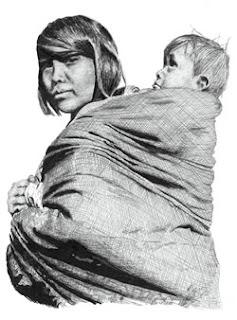 fascia porta bebé sioux