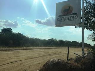 Dikhololo sign board at the entrance