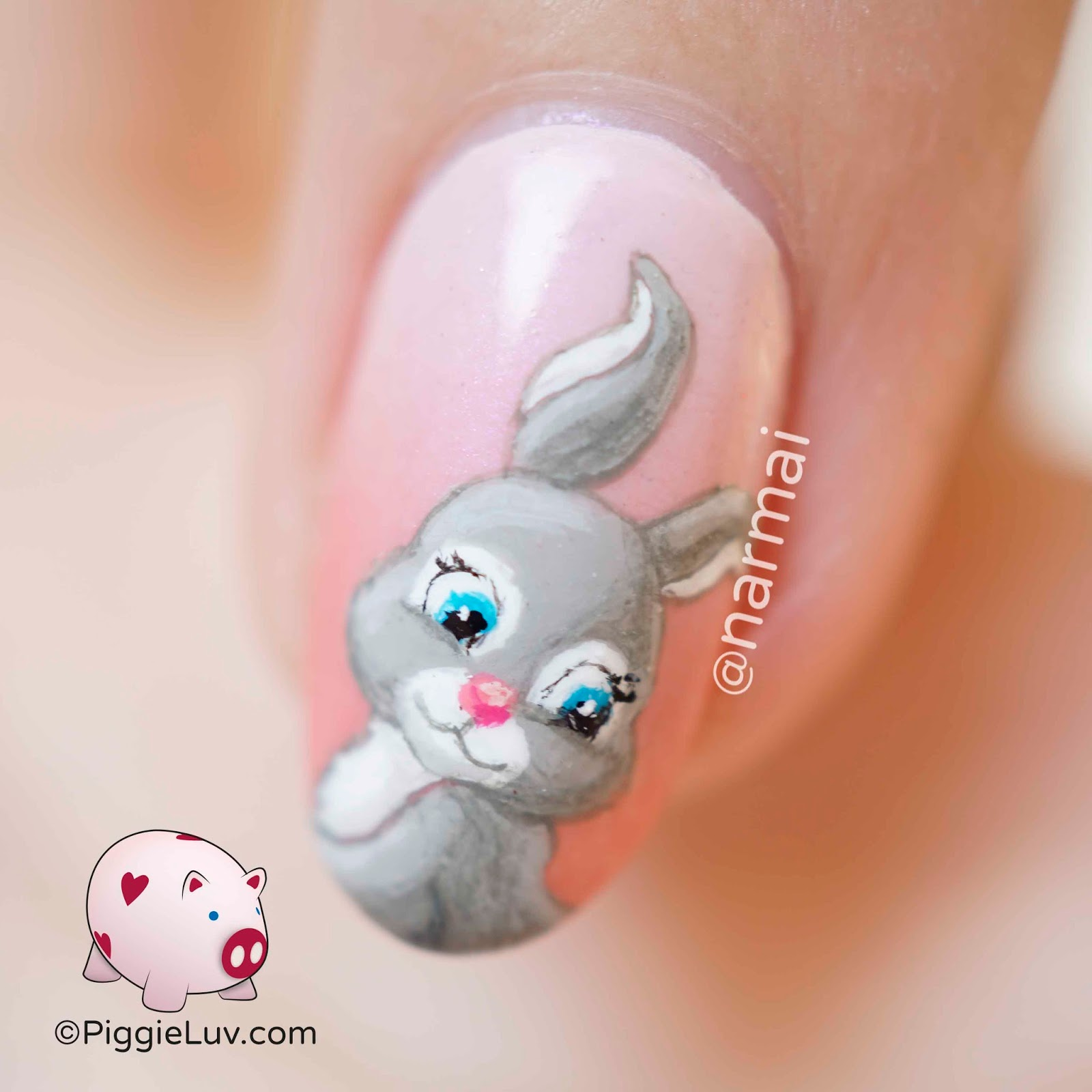 Piggieluv Some Bunny Loves You Nail Art For Valentines Day