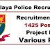 Meghalaya Police Recruitment 2016 Apply for 1425 Constable & SI Posts