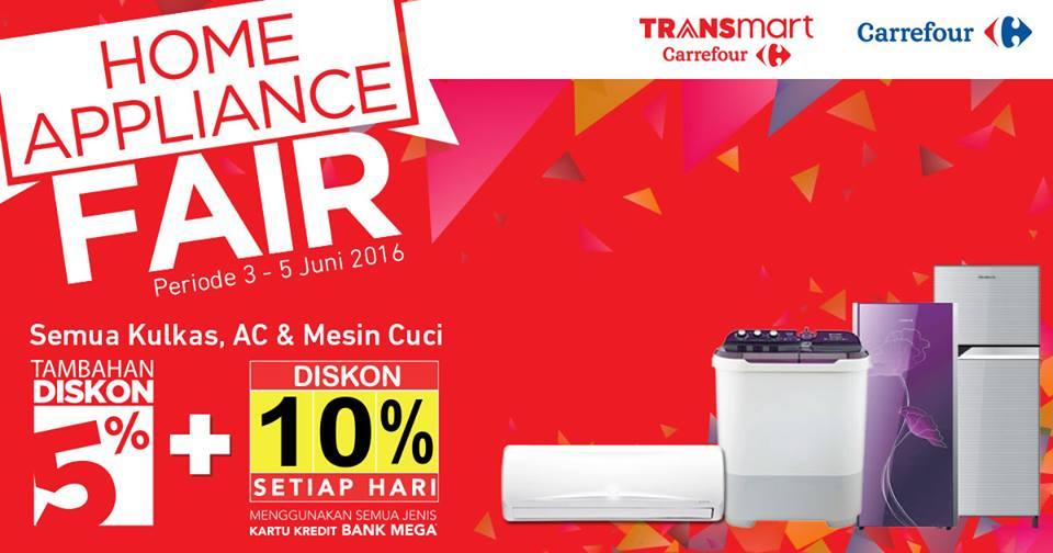 Carrefour Home Appliance Fair Semua Kulkas, AC dan Mesin Cuci Diskon Hingga 10%
