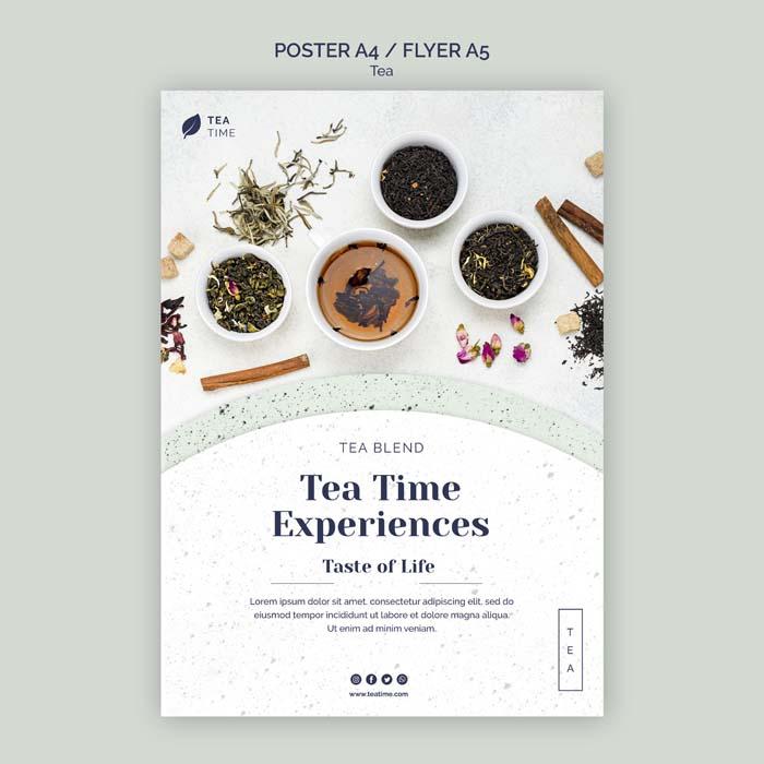 Tea Time Experiences Flyer PSD Template