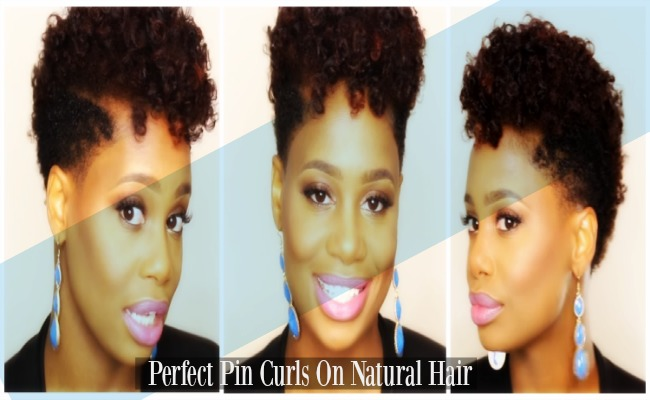 Perfect Pin Curls On Natural Hair