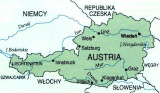 Austria mapa Europy