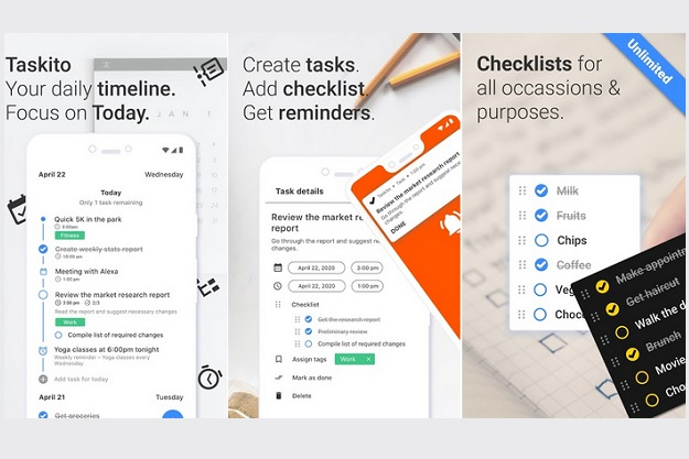 Taskito - Λίστες to-do, ημερολόγιο και υπενθυμίσεις σε μία απίστευτη εφαρμογή