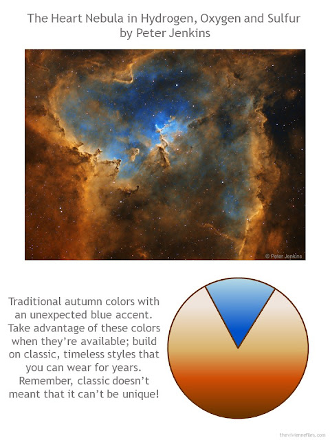 The Heart Nebula by Peter Jenkins with style guidelines and color palette