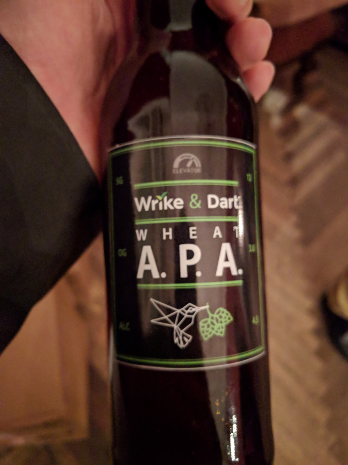 Image of home-brewed beer by Wrike and Dart