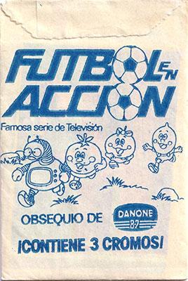 Sobre cromos Futbol en accion Danone