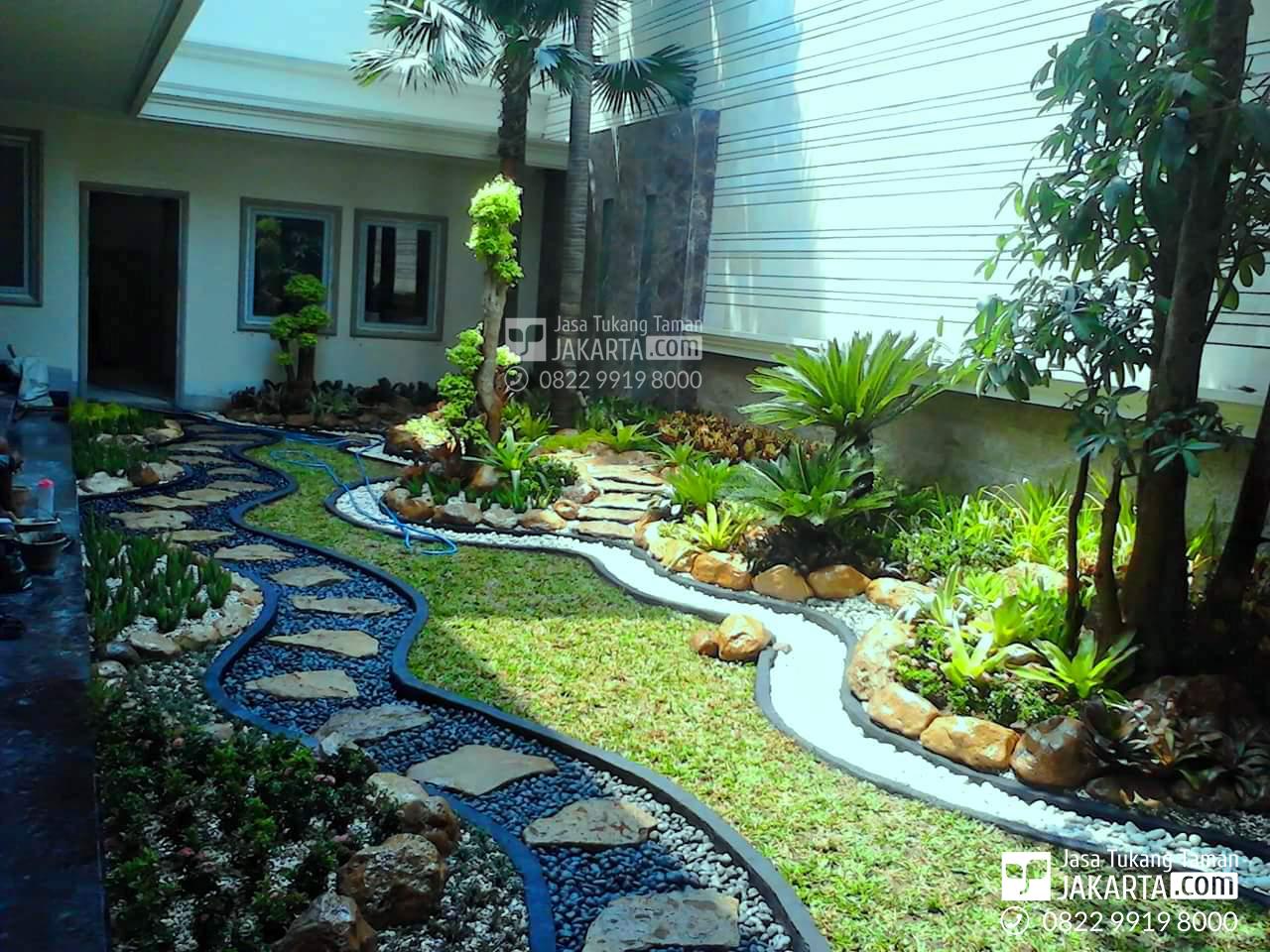 konsep taman halaman belakang - tukang taman rumah