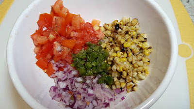 Grilled Corn and Tomato Relish Ingredients