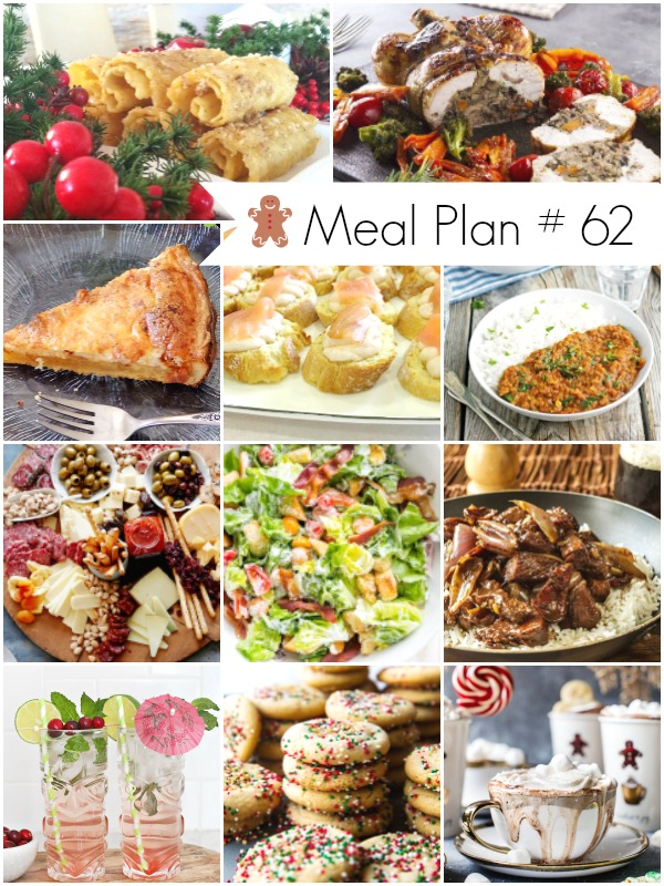 Meal Plan #62 - Delicious recipes (Christmas Day menu included) - Ioanna's Notebook