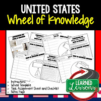 United States Activity, World Geography Activity, World Geography Interactive Notebook, World Geography Wheel of Knowledge (Interactive Notebook)