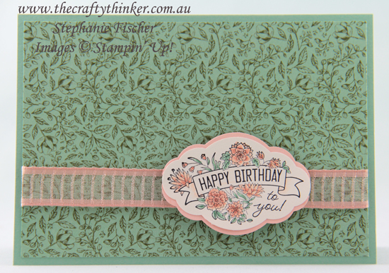 #thecraftythinker #stampinup #labelmepretty #cardmaking #simplecard , Label Me Pretty, Simple Card, Stampin' Up Australia Demonstrator, Stephanie Fischer, Sydney NSW