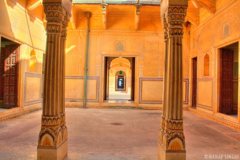 From one Ground Floor Apartment to another Apartment Madhavendra Palace, Nahargarh Fort, Jaipur.