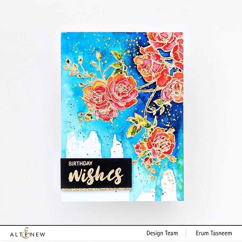 Altenew Enchanted Roses Stamp Set | Erum Tasneem | @pr0digy0