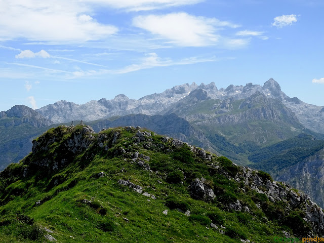 al fondo Picos de Europa