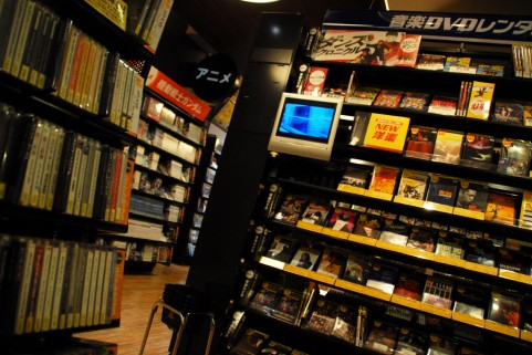 CDショップの棚