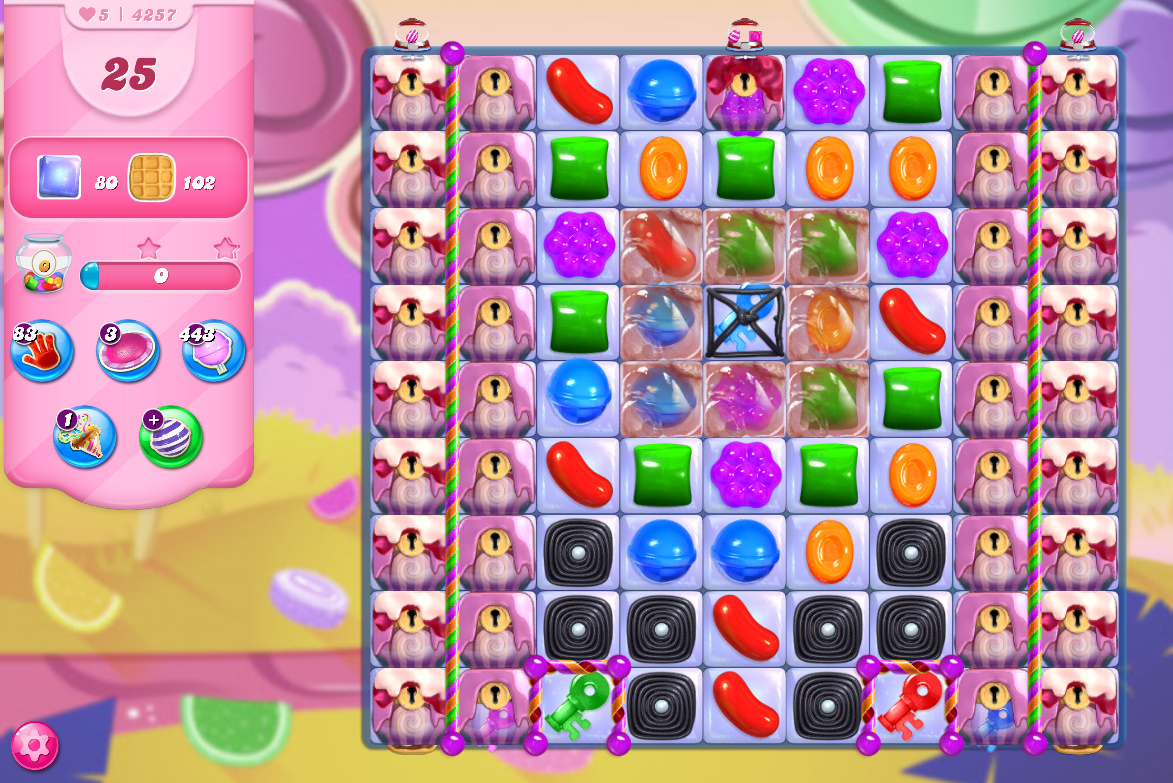 Candy Crush Saga level 4257