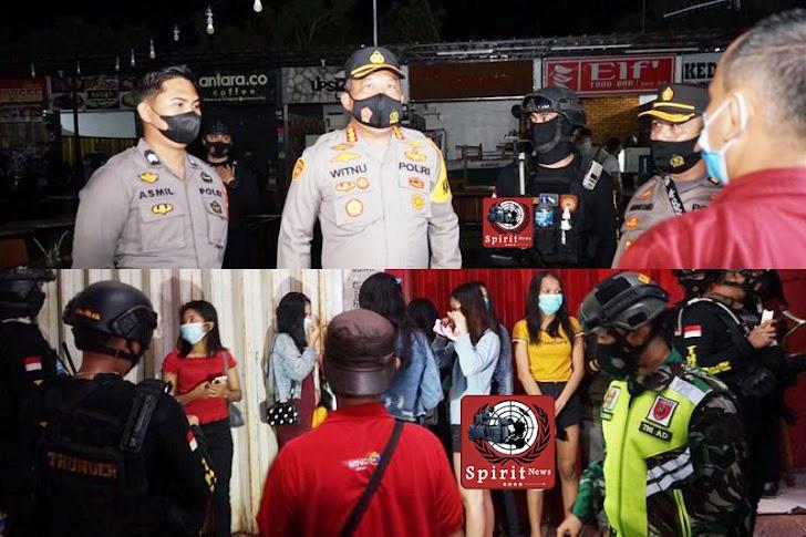 Sidak Tempat Keramaian di Pimpin Kapolrestabes Makassar Bersama PJU