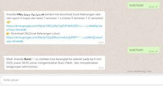 Cara Membuat Surat Keterangan Lulus Otomatis Terkirim Ke Whatsapp Siswa Mr Mung Dot Com