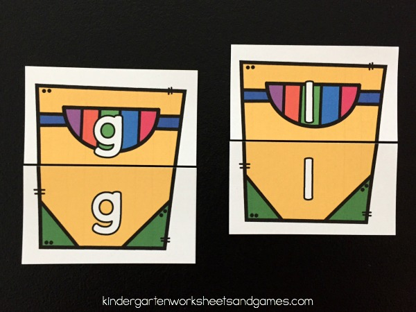 uppercase letter and lowercase letter matching activity