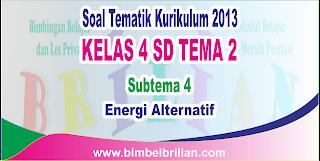 Soal Tematik Kelas 4 SD Tema 2 Subtema 4 Energi Alternatif dan Kunci Jawaban