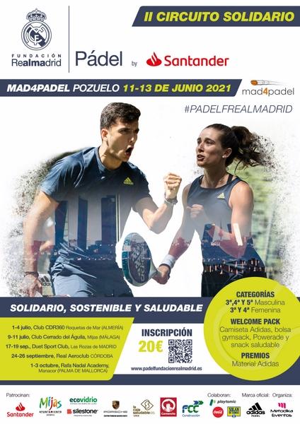 La Fundación Real Madrid presenta el II Circuito Solidario de Pádel