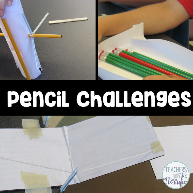 STEM Challenges that use pencils as a main building supply! After building these fabulous structures, students can take turns sharpening the pencils! Win-win!