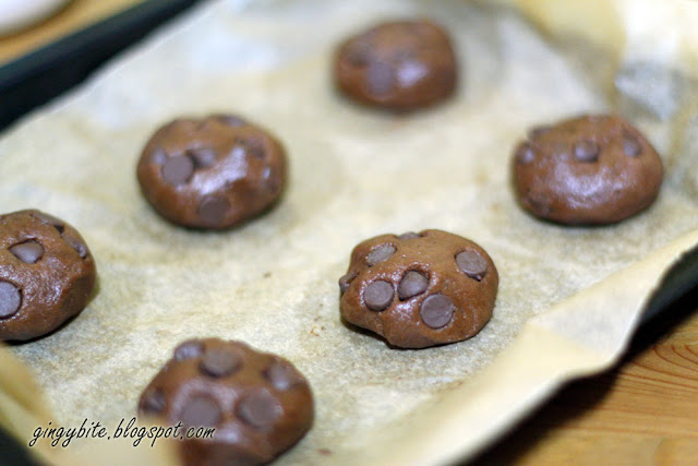 Double Chocolate Chip Cookies 双料巧克力曲奇饼