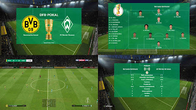 PES 2019 German Scoreboards (Bundesliga + DFB-Pokal + DFL-Supercup)​