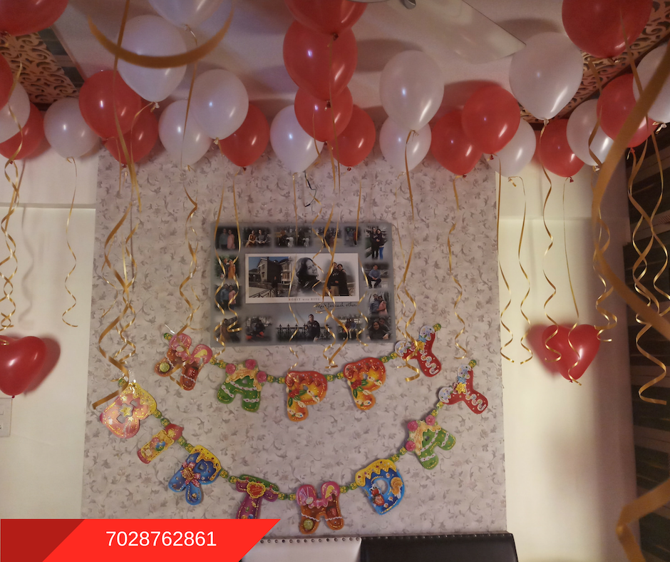 Romantic Room Decoration For Surprise Birthday Party In Pune Png 940x788 Husband  Home Birthday Balloon Decoration