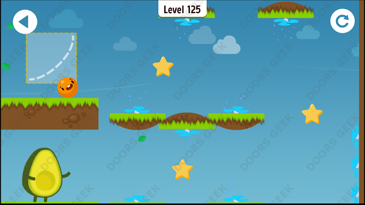 Where's My Avocado? Level 125 Solution, Cheats, Walkthrough, 3 Stars for Android, iPhone, iPad and iPod