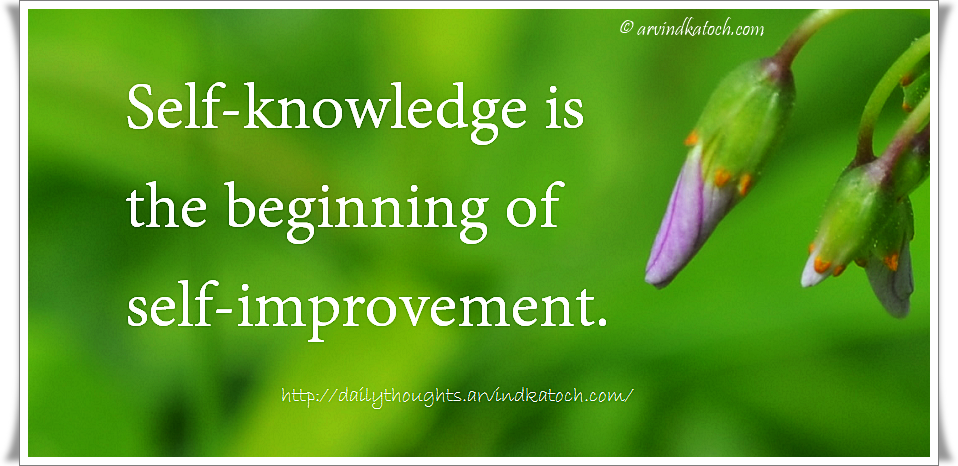 Daily Quote (Self-knowledge Is The Beginning Of Self