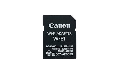 Canon Wi-Fi Adapter W-E1 PDF User Manual Download