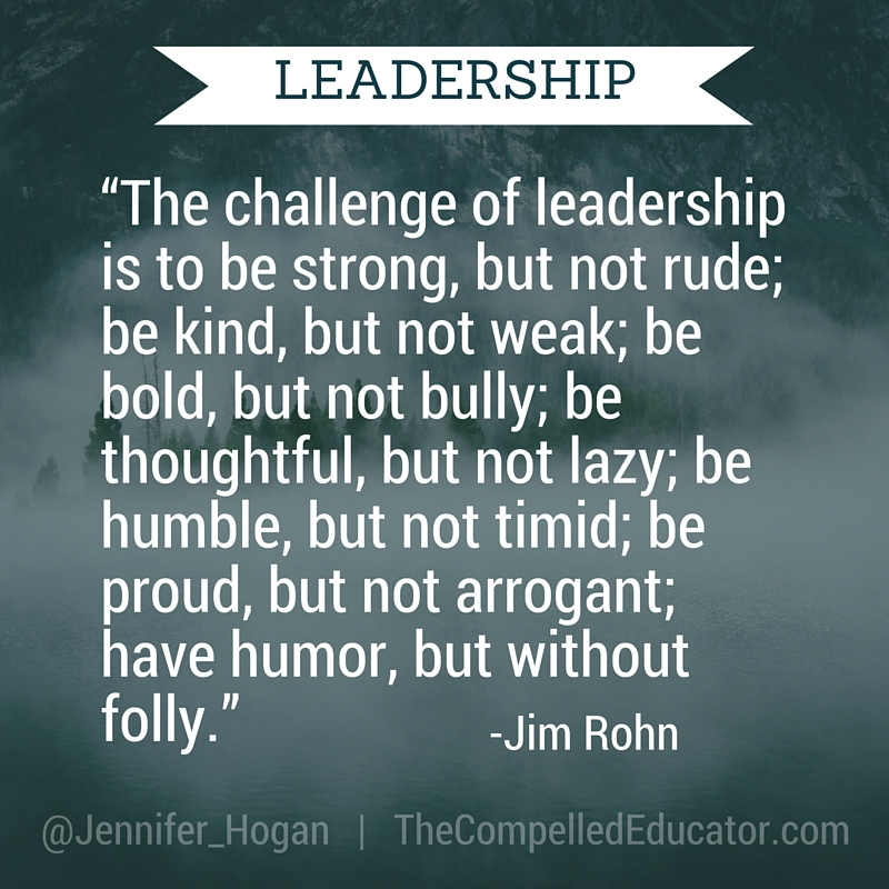 The Compelled Educator: Leadership: A Balancing Act