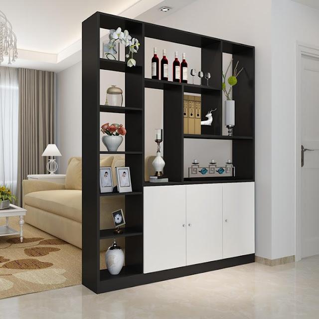 lemari hiasan ruang tamu