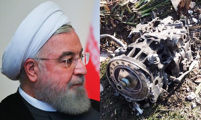 Hasán Rohaní admite que Irán derribo avión de Ucrania