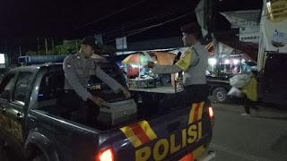 Patroli, Personil Polsek Anggeraja Sampaikan Himbauan Terkait Virus Corona Secara Mobile