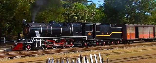 Myanmar steam locomotive in Shan State