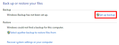 Backup Data Komputer Windows 7 Set backup