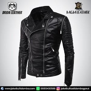 Jual Jaket Kulit Asli Garut Pria Domba Original Brida Leather B44   WA 08813430588