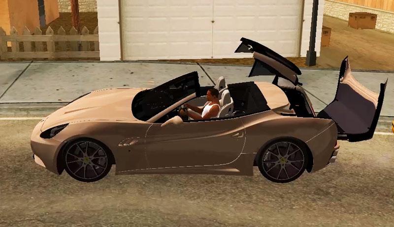GTA SA Opening car roof mod
